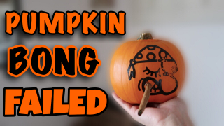 SMOKING A BLUNT OUT OF A PUMPKIN | Pumpkin Bong Fail | Bluntober Day 2