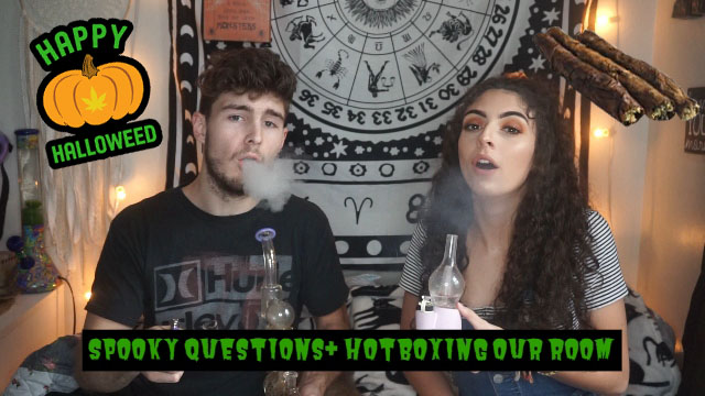 Spooky Questions & Hotboxing our Bedroom|Bakedbeauty420