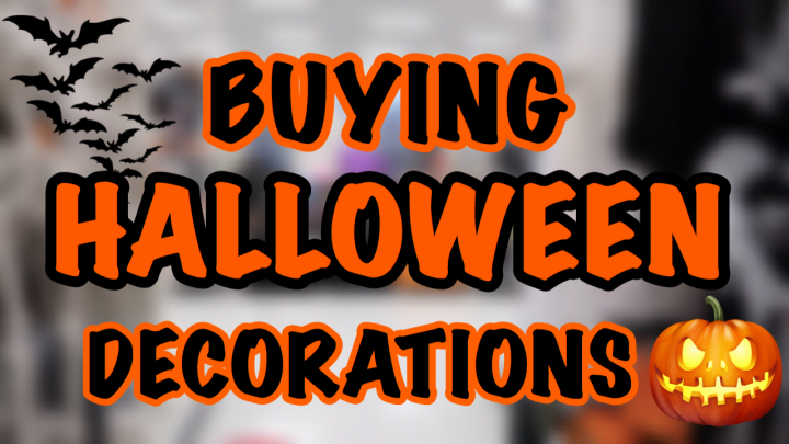 SHOPPING FOR HALLOWEEN DECORATIONS | BLUNTOBER Day 3
