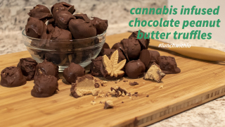 Infused Peanut Butter Truffles PLUS Tips to keep the smell down - #LunchWithLo - Episode 21