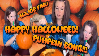 HALLOWEED PUMPKIN BONG FAIL!!!