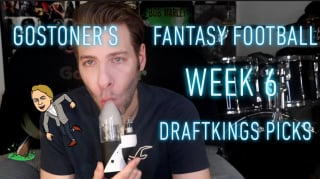 GoStoner's Fantasy Football Week 6 Draftkings Picks