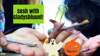 Another dab sesh.. (feat. THE Gladysbluunt!) *Vlogtober PT.3*