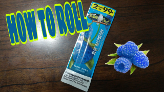 HOW TO ROLL WHITE OWL BLUE RASPBERRY LIMITED EDITION BLUNTS