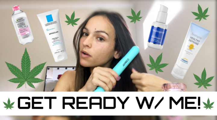 G.R.W.M. (skin, hair, makeup and WEED) My EVERYDAY routine! - Mandy Cannabis