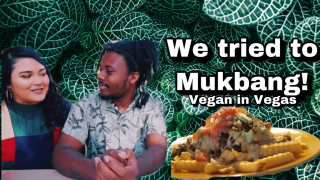 Vegan Carde Asada Fries | Our first Mukbang!