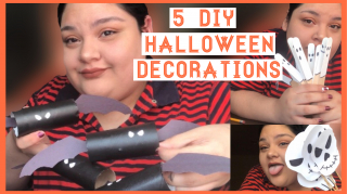 5 DIY Halloween Decorations || Vlogtober
