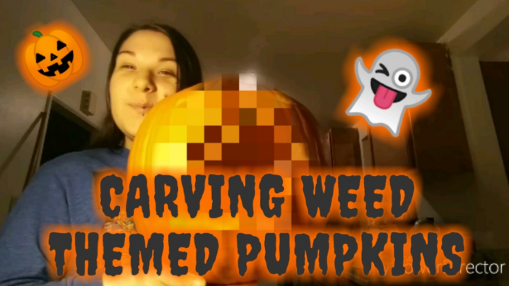 CARVING WEED THEMED PUMPKINS WITH A SURPRISE!