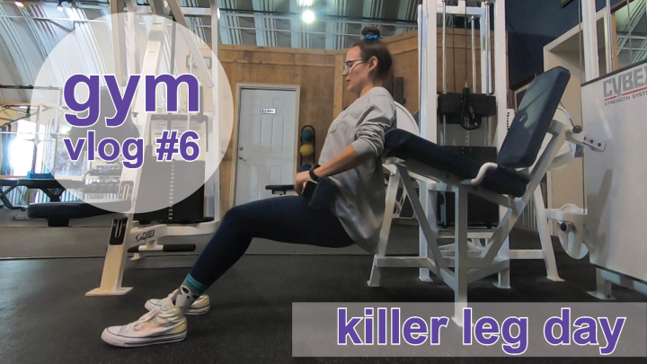 killer leg day // gym vlog 6