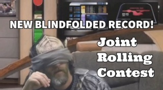 5.5 Seconds Blindfolded Joint Rolling Record!