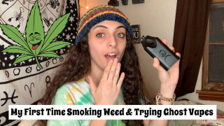My First Time Smoking Weed & Trying Ghost Vapes|Bakedbeauty420