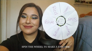 SPIN THE WHEEL & MAKE A EYE LOOK USING 4 COLORS