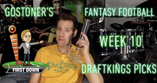 GoStoner's Week 10 Daily Fantasy Football Draftkings Picks