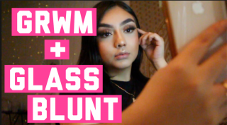 GET READY WITH ME + TRYING GLASS BLUNT STORE