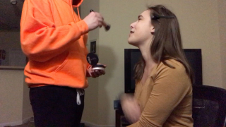 Boyfriend Does My Makeup while Super Stoned!