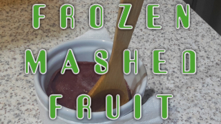 Frozen Mashed Fruit Dessert