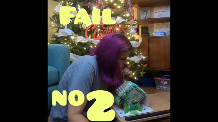 Vlogmas Day 11 Smoking out of a Gingerbread House