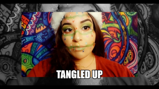 Tangled in lights makeup version
