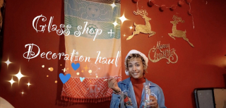vlogmas day 2: glass shop + decoration haul