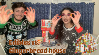 EDIBLES Vs.GINGERBREAD HOUSES | Bakedbeauty420