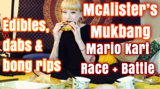 HAPPY HOLIBLAZE MUKBANG + MARIO KART