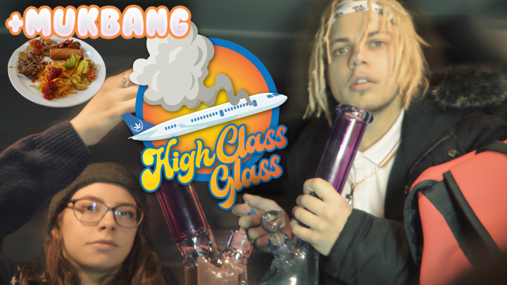 HIGH CLASS GLASS BONG*car hotbox