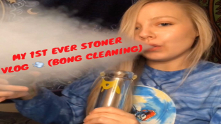 1ST EVER VLOG!! (BONG CLEANING)