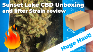 Unboxing a package from Sunset Lake CBD | Lifter Hemp Flower Review | Conscious Clouds Episode #3