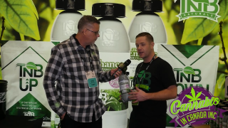 Jason Wilcox from Cannabis In Canada at Lift & CO. Expo Vancouver, BC 2020 with TNB Naturals