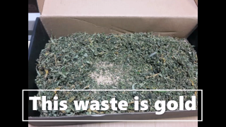 make hash with waste! A sec!