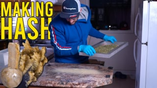 MAKING HASH FROM SHAKE TRIM
