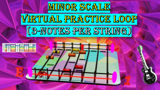 Minor Scale Virtual Practice Loop (3-Notes Per String)
