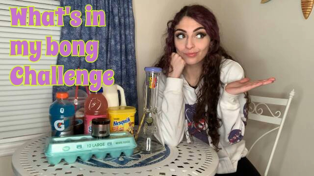 What's in my bong Challenge!?! |  Bakedbeauty420