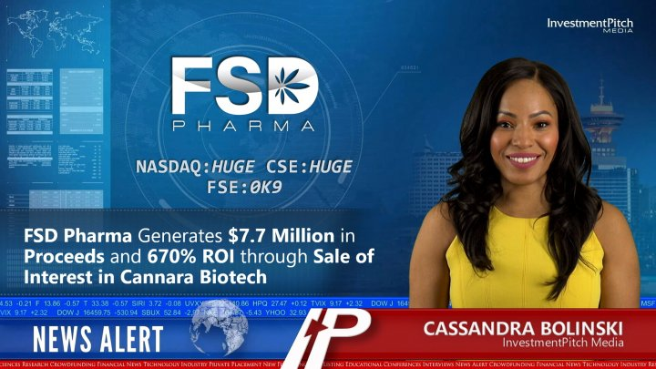 FSD Pharma Generates $7.7 Million in Proceeds and 670% ROI through Sale of Interest in Cannara Biotech