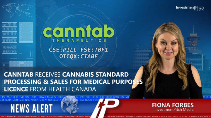 Canntab receives Cannabis Standard Processing & Sales for Medical Purposes Licence from Health Canada