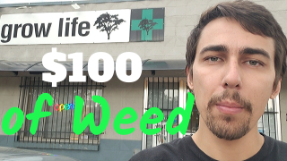 $100 Dispensary Haul - Buying an Ounce of Weed