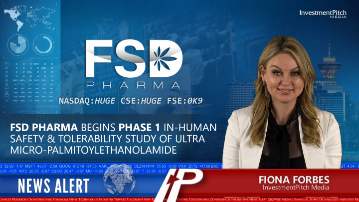 FSD Pharma begins Phase 1 In-Human Safety & Tolerability Study of Ultra Micro-Palmitolylethanolamiode