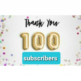 100 subscribers thank you very much for all your support