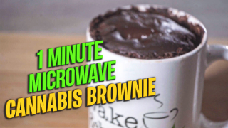 1 minute Microwave Cannabis Brownie |How to make brownies with microwave | Ahleaf Cannabis
