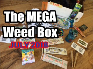 The MEGA Weed Box July 2018 Unboxing & Review