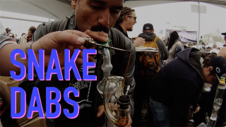 Chuckie Fuego Dabs a 1 Gram Dab with Bobby Dabs at the 2015 Denver High Times Cannabis Cup