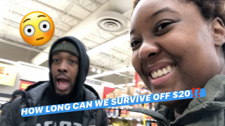 HOW LONG CAN WE SURVIVE OFF $20 GROCERIES!? (COVID-19 PANDEMIC) || PuffPuffGyal