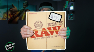 This Rolling Tray COSTS $100!... | The RAW TRIPLE FLIP Wooden Rolling Tray