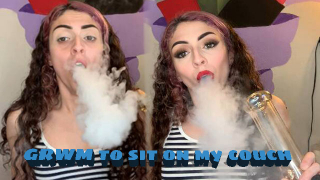 GRWM to Go Sit in my Living Room & get High!   Bakedbeauty420