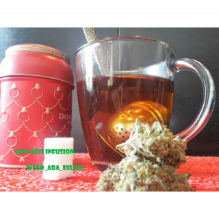 Cannabis tea, I save by making a cannabis infusion simply with the leaves