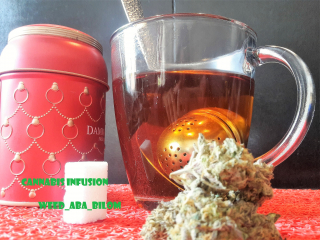 Cannabis tea, I save by making a cannabis infusion simply with the leaves. Comment faire un thé / infusion au cannabis simplement.