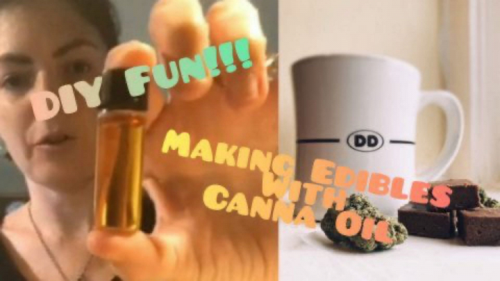 DIY Fun // Making Chocolate Edibles With Canna Oil & Getting Baked