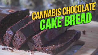 Cannabis Chocolate Fudge Cake Bread