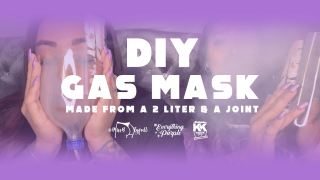 DIY GAS MASK MADE FROM A TWO LITER & A JOINT!