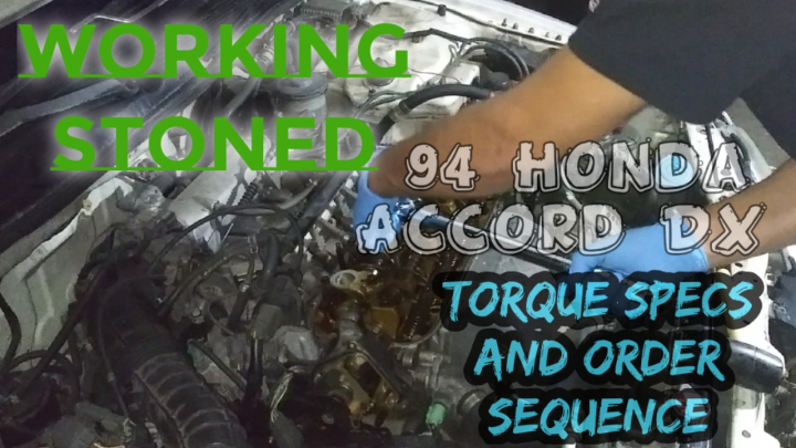 Torque Specs And Order Sequence For 94 Honda Accord DX